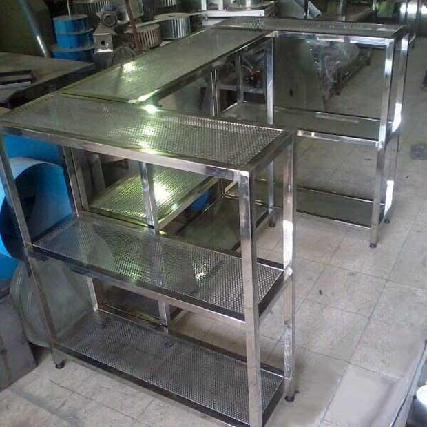 طبقه استیل قفسه بندی آشپزخانه های صنعتی