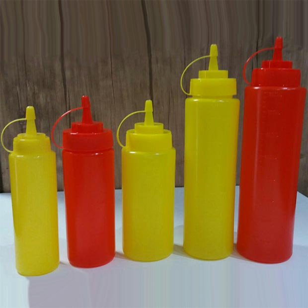 ظرف پمپ سس پلاستیکی فست فود درجه دار مارک دیاموند