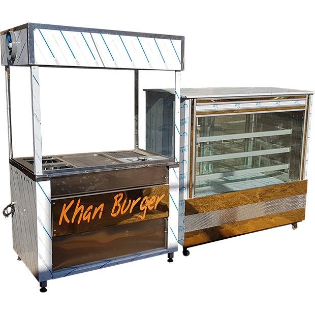 فر ساندویچی 6 کاره فست فود خان برگر در تهران بازار شاه عبدالعظیم