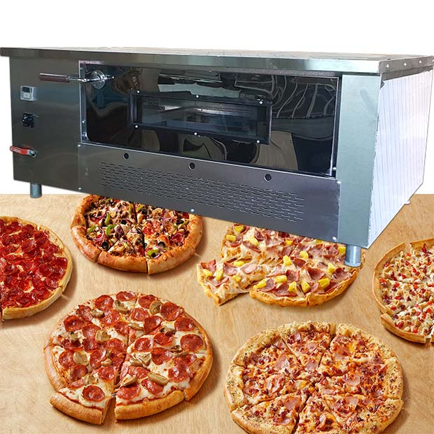 فر پیتزا آجری صندوقی دیجیتال 12 بشقاب طرح چپ دست