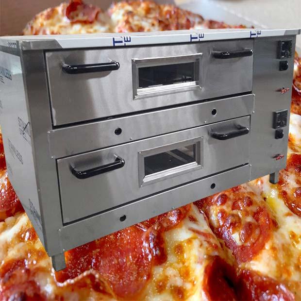 فر پیتزا تنوری دو طبقه صندوقی اتوماتیک