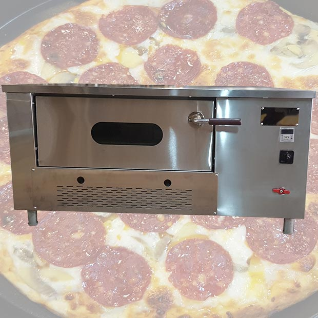 فر پیتزا دیجیتالی صندوقی 6 بشقاب کف آجری