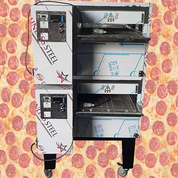 فر پیتزا ریلی دو طبقه دهنه 50 سانتیمتر