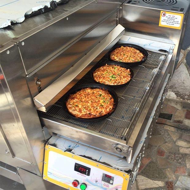 فر پیتزا ریلی سه بشقابه فست فود شاورما شیراز