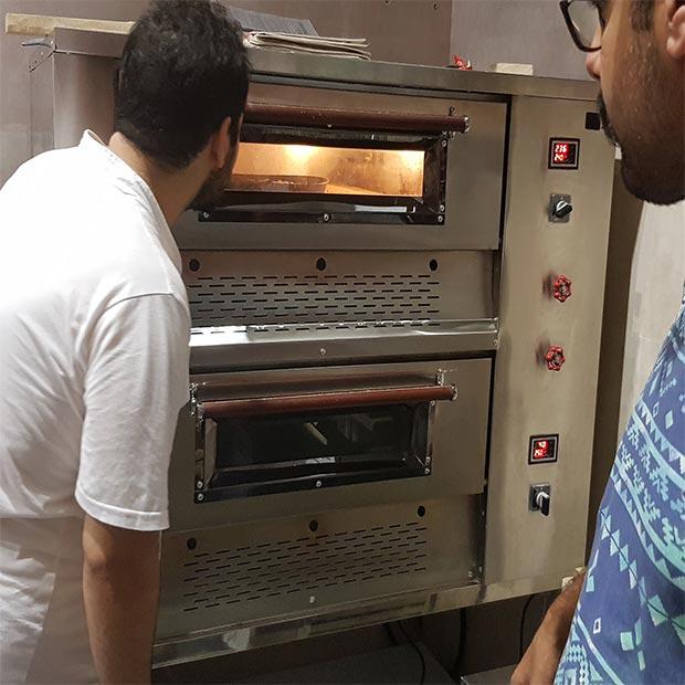 فر پیتزا صندوقی 24 بشقاب دو طبقه
