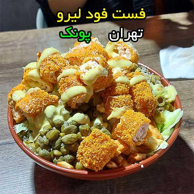 فست فود لیرو در پونک میرزابابایی تهران