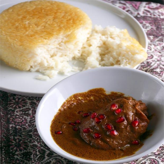 فسنجون اصفهانی با مرغ