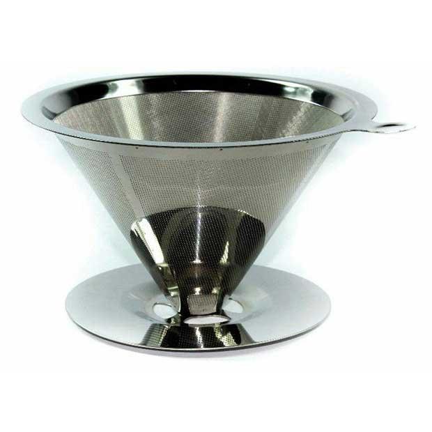 فیلتر استیل پایه دار قهوه مدل توری