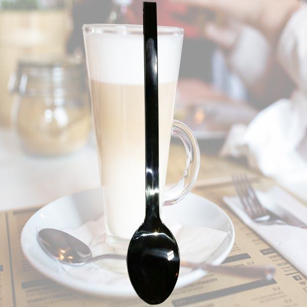 قاشق استیل دسته بلند ضخیم کافه ای