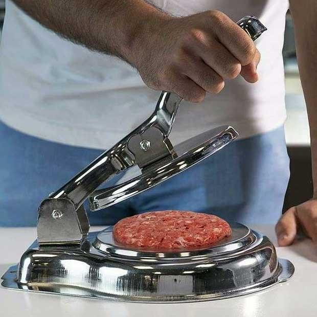قالب همبرگر زن دستی پانزده و نیم سانتیمتر جنس آبکاری