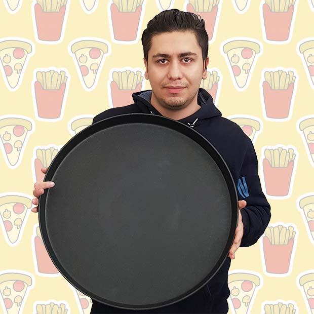 قالب پیتزا تفلون بزرگ سایز 40 سانتیمتر