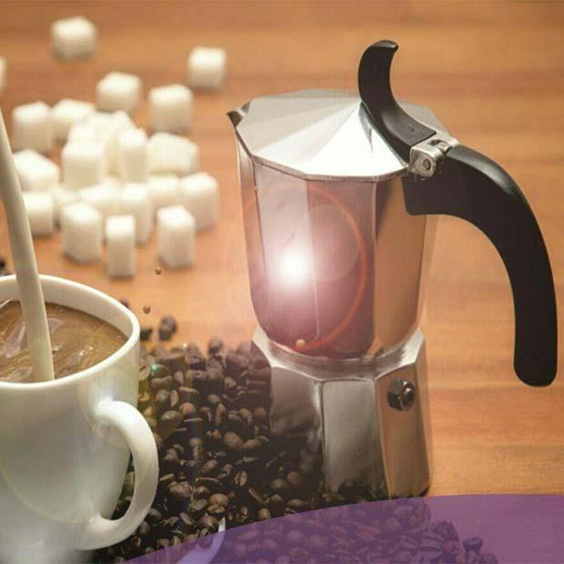 قهوه جوش دو فنجان آلومینیومی