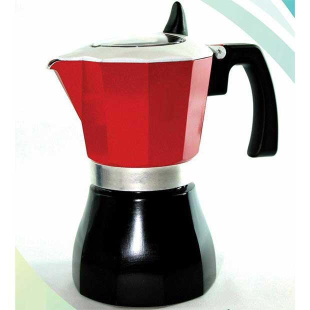 قهوه جوش شش فنجان آلومینیومی درب شیشه ای