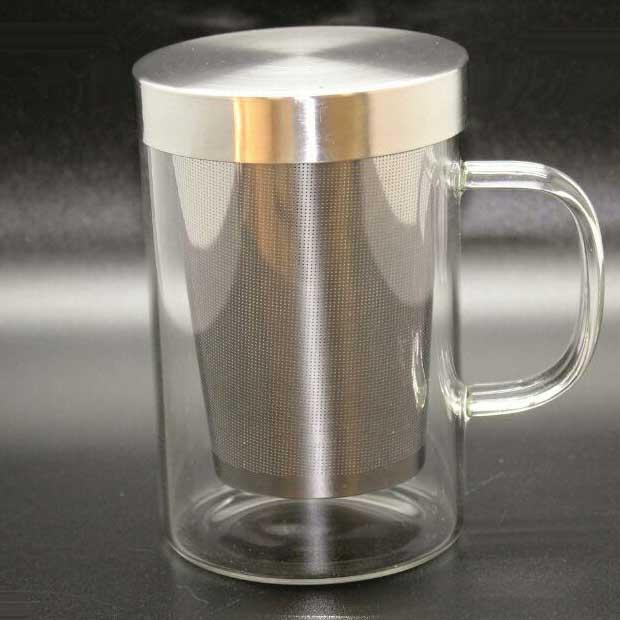 لیوان دمنوش فیلتر استیل حجم 450 میلی لیتر