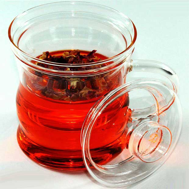 لیوان دمنوش پیرکس چای سبز دسته دار