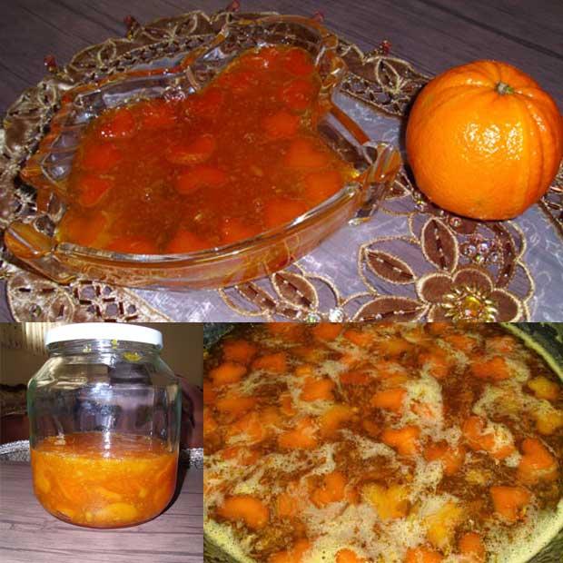 مارمالاد پرتقال با پوست و پودر ژلاتین