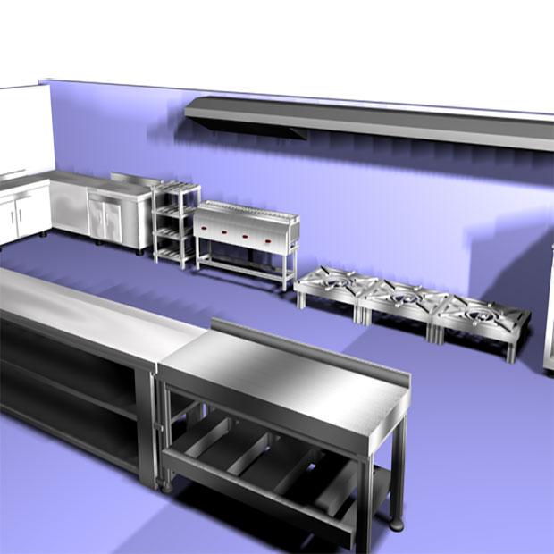 مراحل چیدمان و طراحی آشپزخانه صنعتی