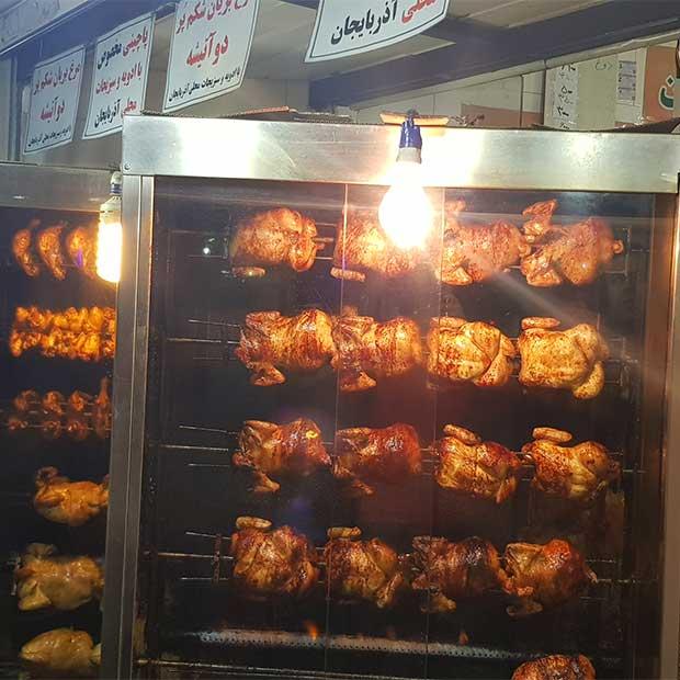 مرغ بریان صدف در تهران بلوار فردوس