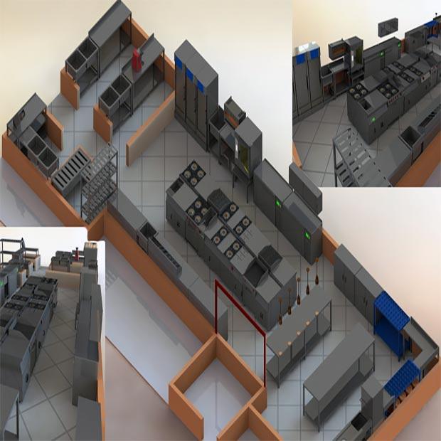 مزایا مدل سازی آشپزخانه صنعتی و طراحی سه بعدی