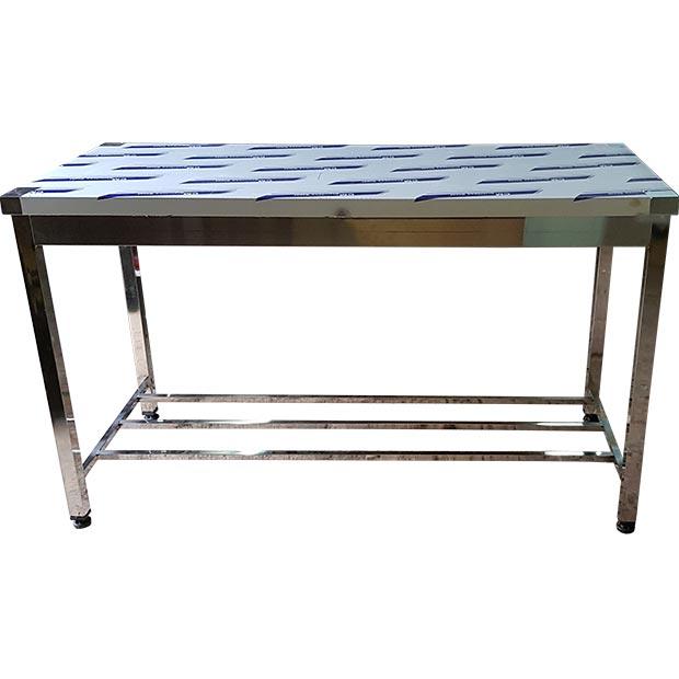 میز استیل کار در آشپزخانه صنعتی قنادی قصابی فست فود طول 150 سانتیمتر