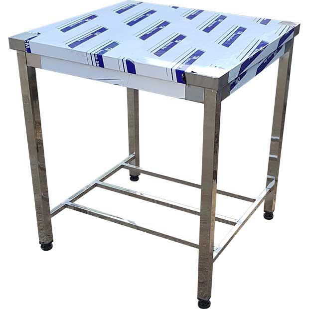 میز کار استیل با پایه پاتروکی طول 80 سانتیمتر
