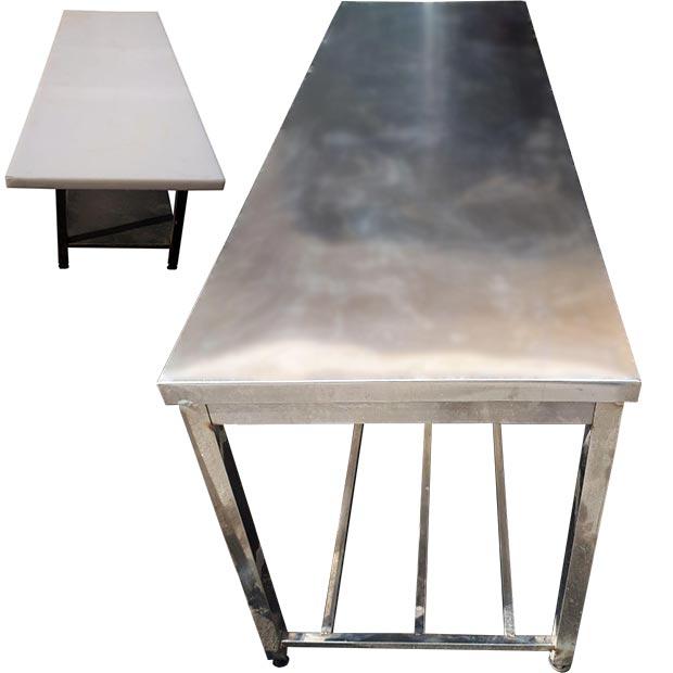 میز کار استیل 190 سانتیمتر با تخته تفلون