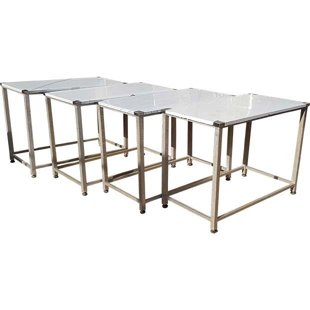 میز کار رویه استیل پایه آهنی طول 120 سانتیمتر