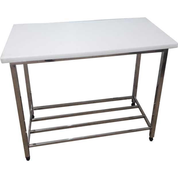 میز کار صنعتی با رویه پلی اتیلن عرض150سانتیمتر