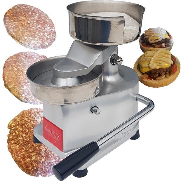 همبرگر زن دستی صنعتی نیمه اتوماتیک قطر 13 سانتیمتر