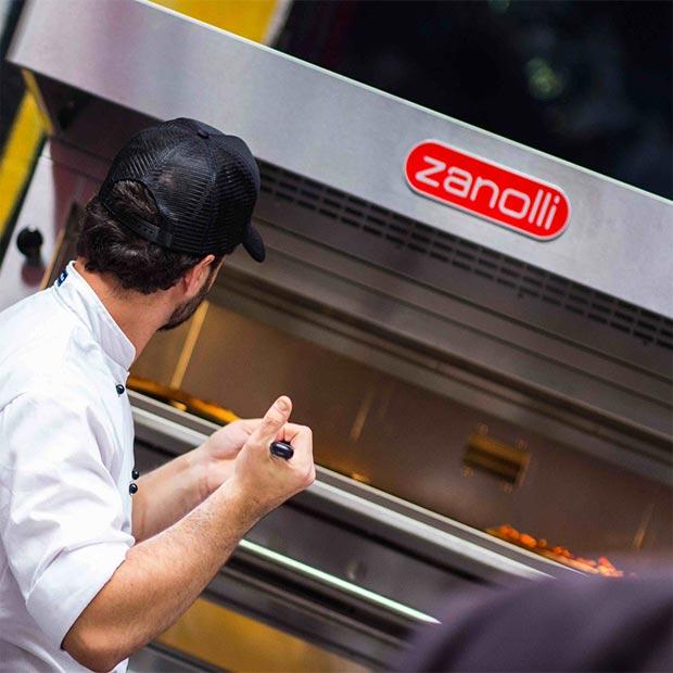 هود صنعتی استیل فر پیتزا ایتالیایی مدل Zanolli CITIZEN GAS PW 9 TP