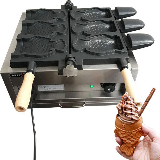 وافل ماهی ساز برقی با جای بستنی