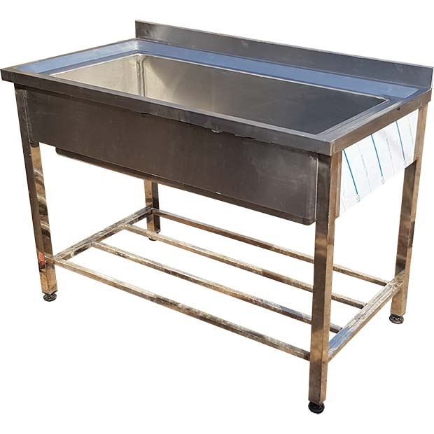 وان استیل شستشو صنعتی دست ساز طول 120 سانتیمتر