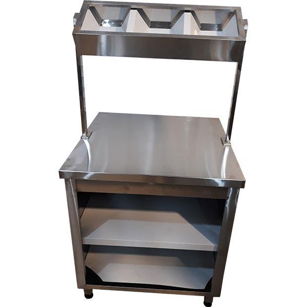 کانتر قاشق چنگال با طبقه چیدن ظروف