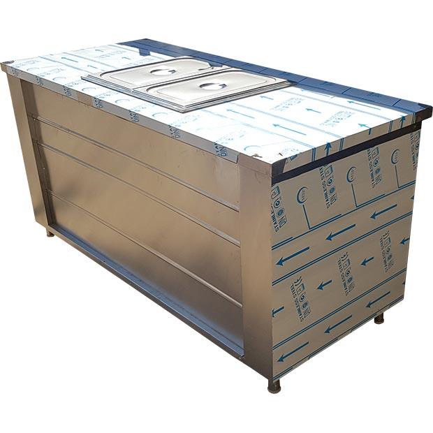 کانتر گرم قنادی دو لگن برقی با میز و کابینت