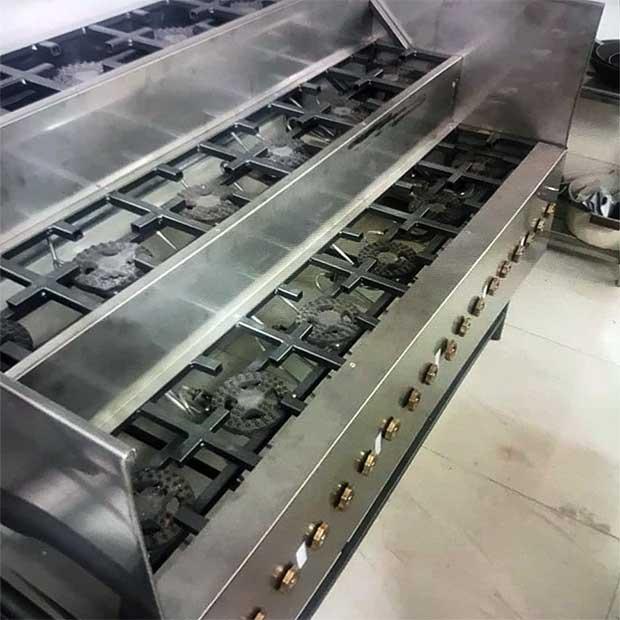 کته پز و خورشت پز پله ای با شعله تخت