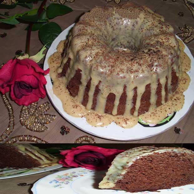 کیک شکلاتی شیفون با کاکائو نسکافه دارچین