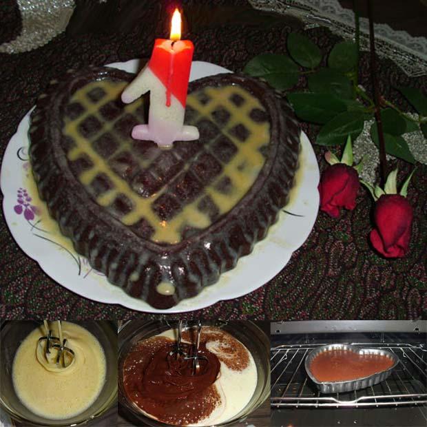 کیک نسکافه ای شکلاتی تولد