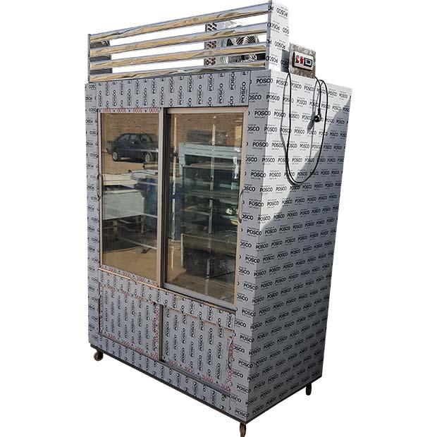 یخچال کبابی ویترینی چهار درب طبقه دار