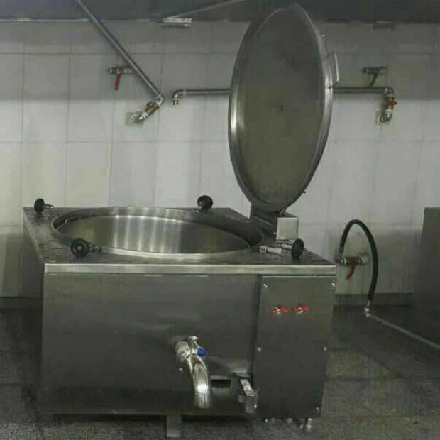 دستگاه دیگ پخت برنج اتوماتیک چلویی نما مکعب استیل سایز300لیتر