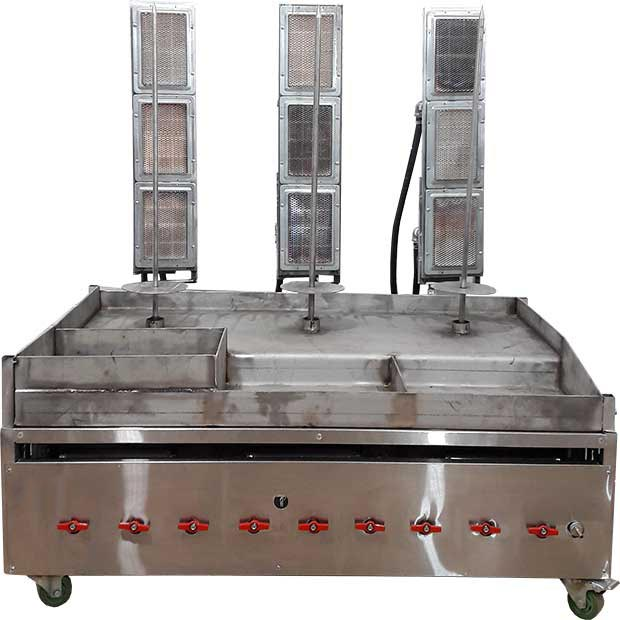 دستگاه کباب ترکی سه سیخ رومیزی سفارشی