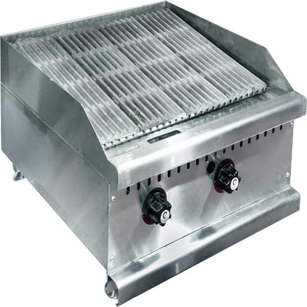 دستگاه گریل ذغالی مشبک چدنی با بدنه استیل