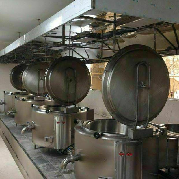 دیگ صنعتی خورشت پز استیل جوشی استوانه ای 300لیتر