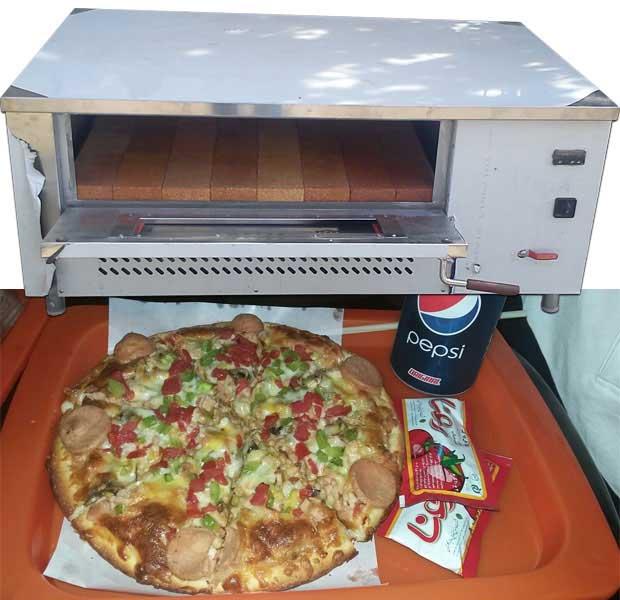 پیتزا پز طرح لینکن استیل 12 بشقاب