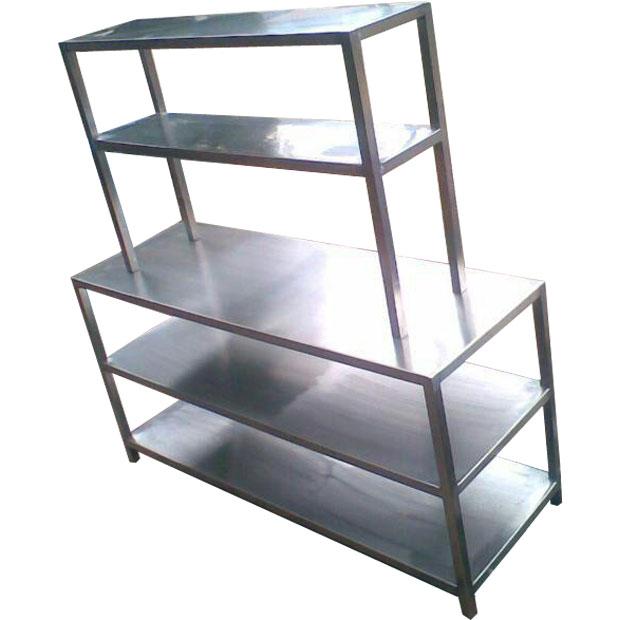 قفسه بندی استیل آشپزخانه صنعتی طرح ایتالیایی