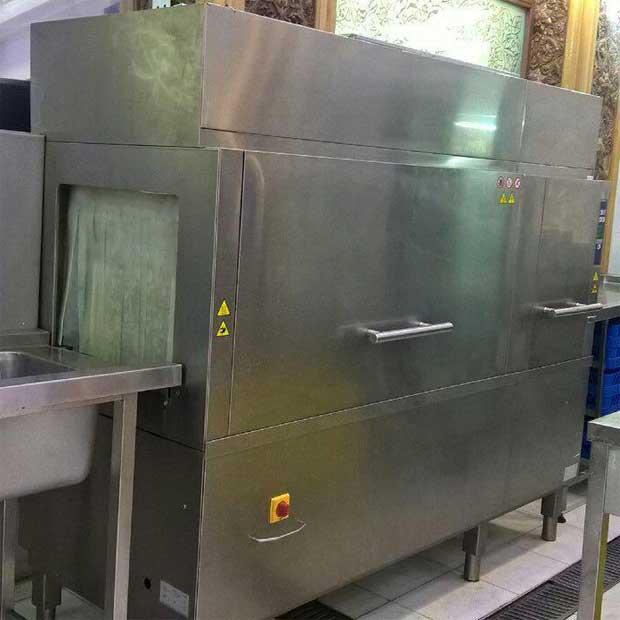 ماشین ظرفشویی صنعتی دوهزار بشقاب تونلی گرمکن دار زانوسی ایتالیا