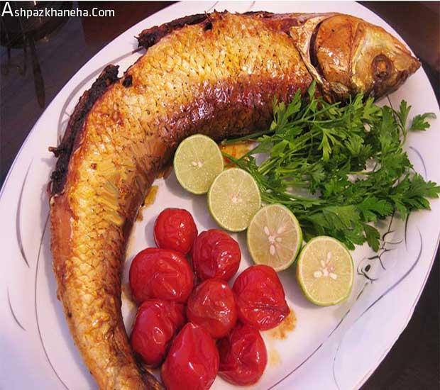 ماهی سفید شکم پر شمالی در فر