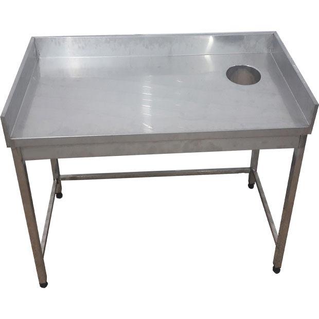 میز برنج پاک کنی رستورانی با حفره قطر20سانتیمتر