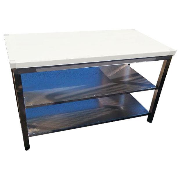 میز کار استیل با دوطبقه وسط طرح مکانیکی