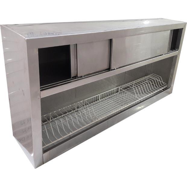 کابینت آبچکان تمام استیل با درب کشویی طول150سانتیمتر