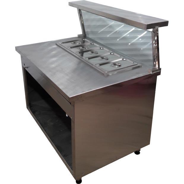 کانتر گرم پنج لگن با رف و شیشه مخصوص خط سرد و گرم